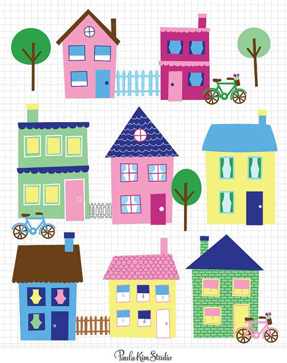 Town clipart different place #2