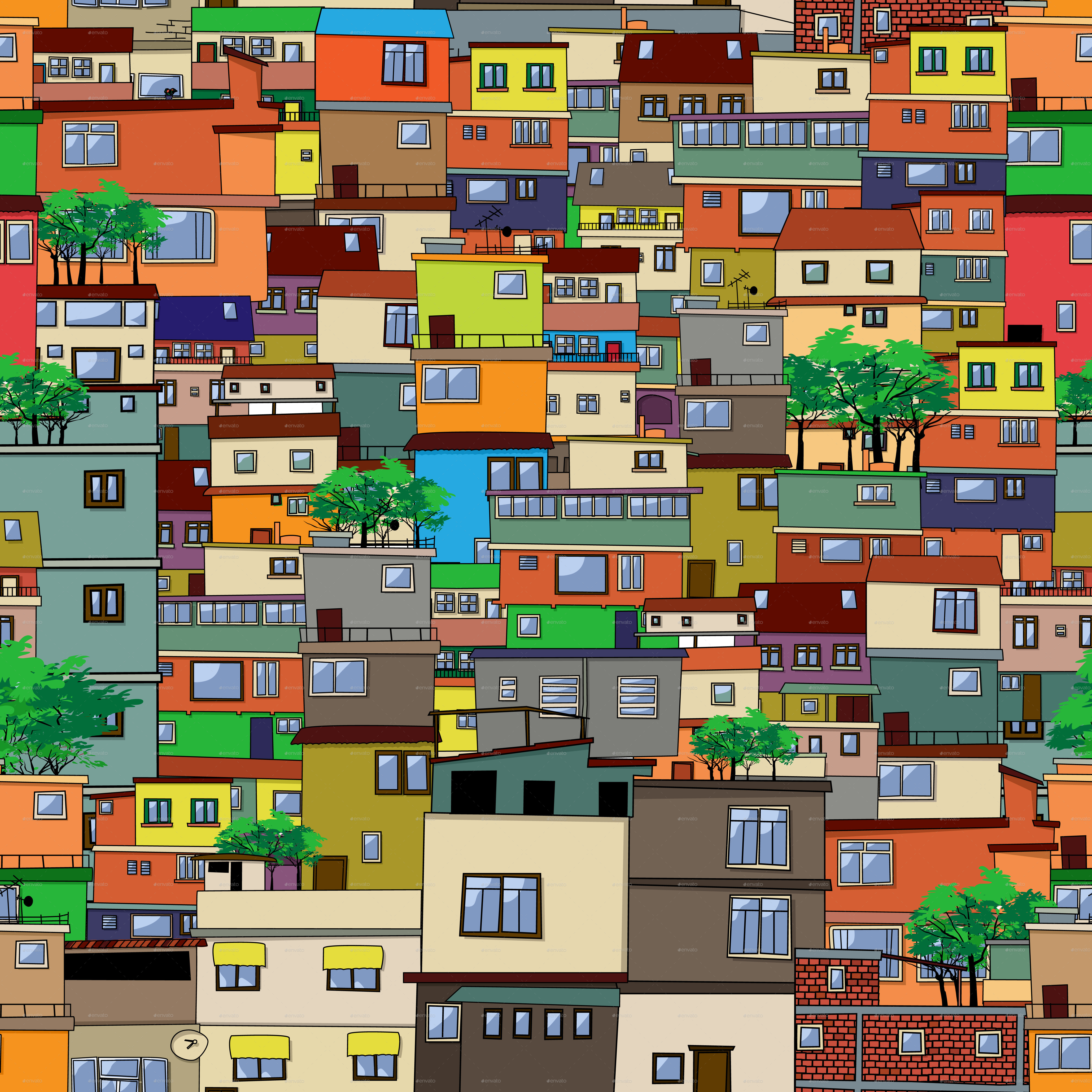 Favela clipart urban community Favela Rio Tile Favela bomberclaad