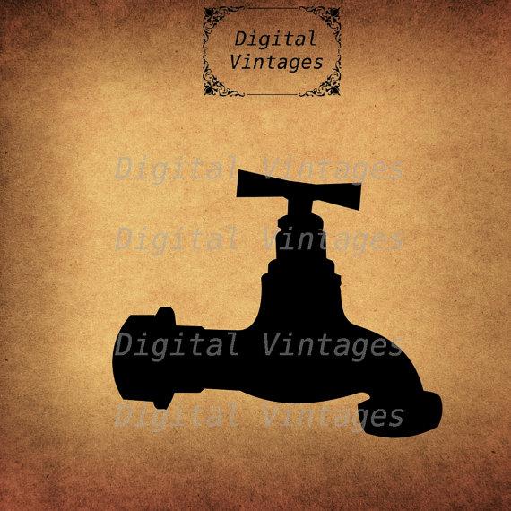 Fawcet clipart vintage Vintage DigitalVintages Hose Printable Spiggot