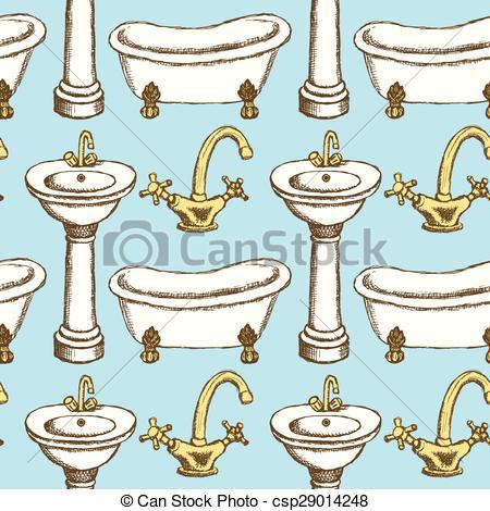 Fawcet clipart vintage Vintage  of sink Sketch
