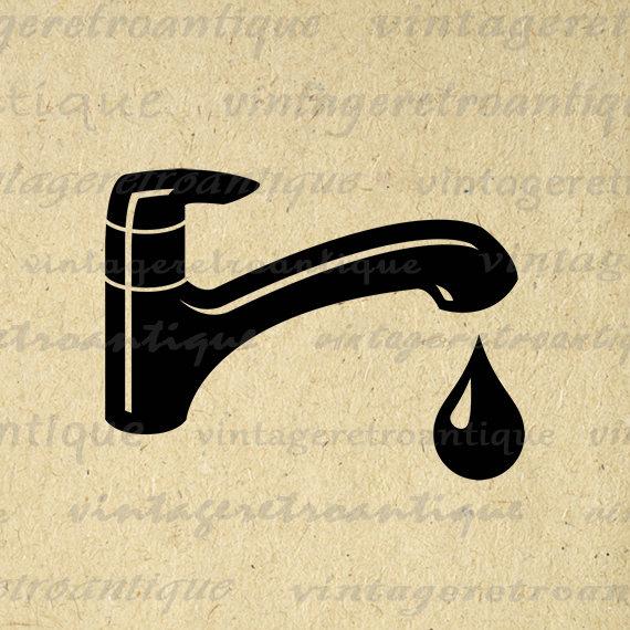 Fawcet clipart vintage Bathroom Sink Image Clip Icon