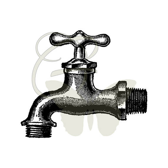 Fawcet clipart vintage Crafting Faucet  Art Crafting