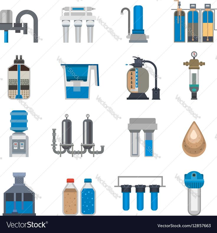 Fawcet clipart water treatment Natural Wastewater set fresh Water