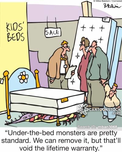 Bed clipart fear CartoonStock from Comics cartoon Fear