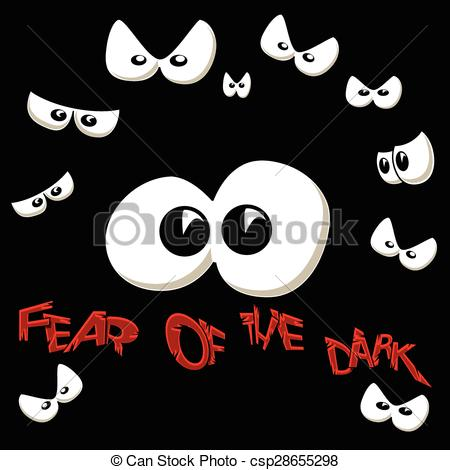 Fear clipart darkness The Scared Vector Fear of