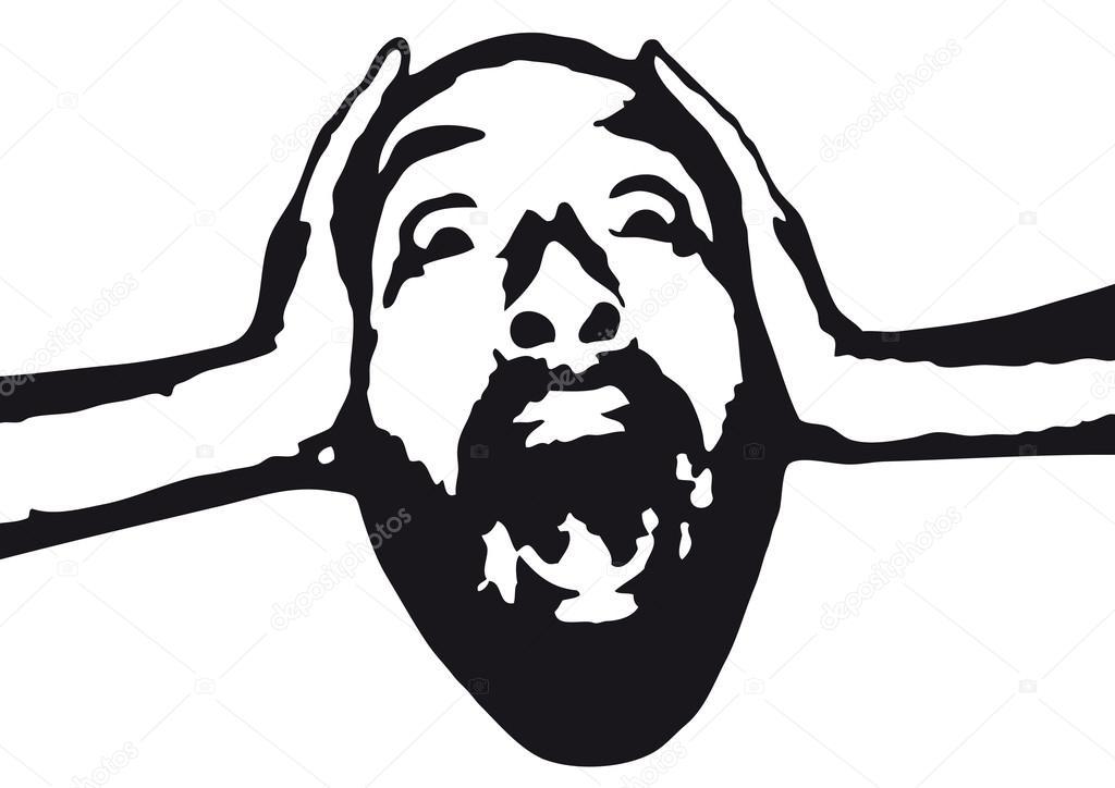 Fear clipart distress Face Vector duress Stress Stock