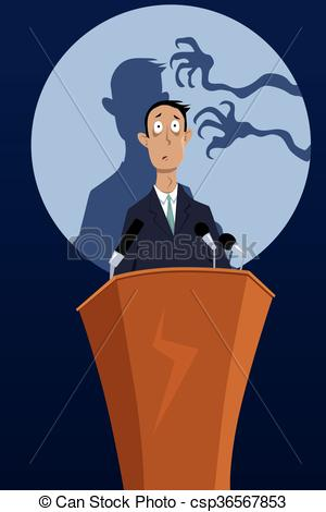 Fear clipart fright Speaking Clipart  of public