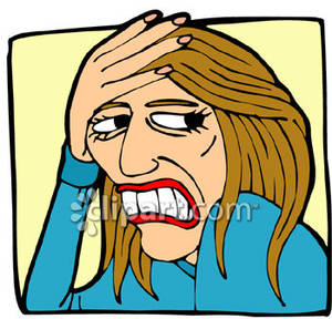 Fear clipart grimace Picture Woman Picture Clipart Grimacing