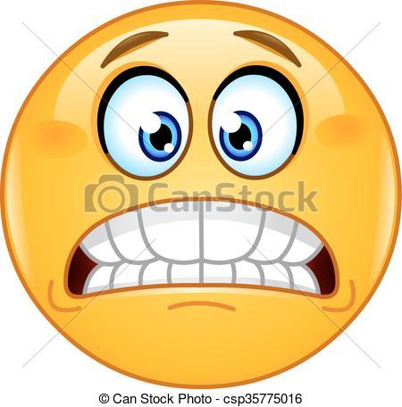 Fear clipart grimace Bared emoticon Art teeth Clip