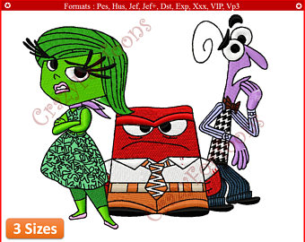Fear clipart inside out (Disgust EMBROIDERY DESIGNS out All