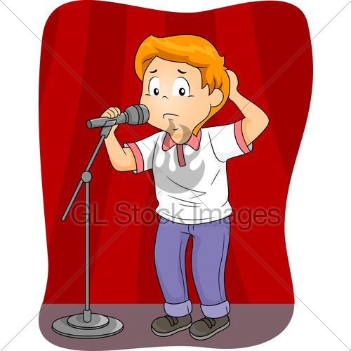 Fear clipart nervous speech Kid Standing Public · Images