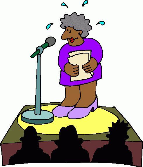 Fear clipart nervous speech Getting about fear Speech of