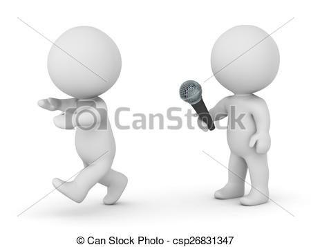 Fear clipart scared public speaking Man of 3D  of