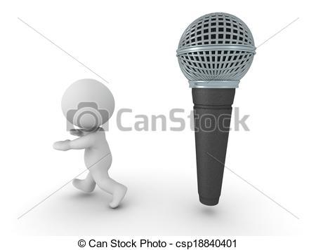 Fear clipart scared public speaking Public Man speaking A of