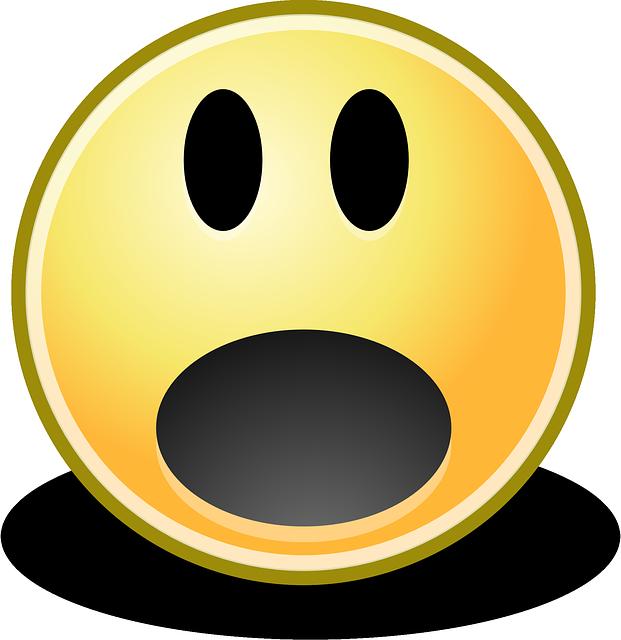 Fear clipart surprised face Surprise Smiley Scare Pixel photo