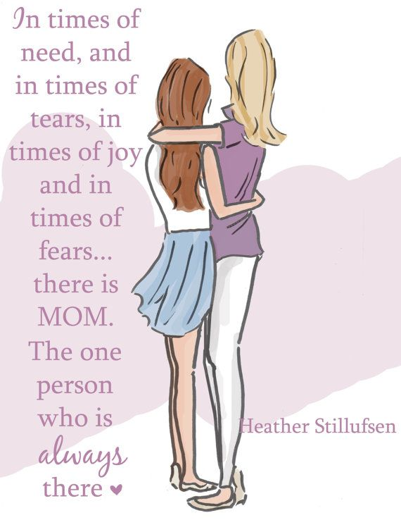Fear clipart worried mother Mom 25+ Mom daughter Cards
