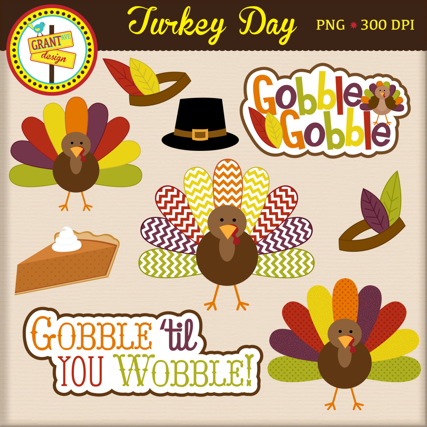 Turkey clipart polka dot #1