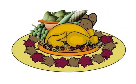 Thanksgiving clipart supper 2 pdclipart  Fall art
