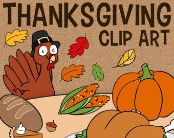 Carrot clipart thanksgiving food Etsy Thanksgiving Thanksgiving Cornucopia Clip