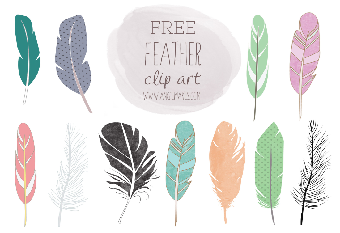 Feather clipart Angie Feather free feather Clip