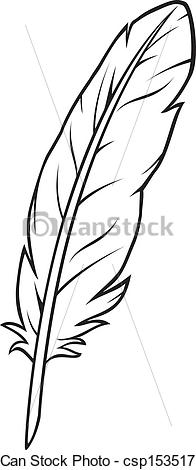 Feather clipart Search of Vector feather feather