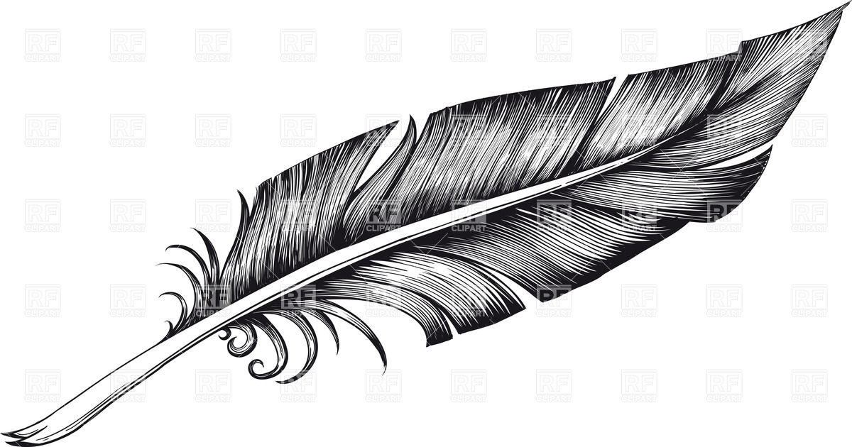 Feather clipart Silhouette clipartcow Feather clip 2