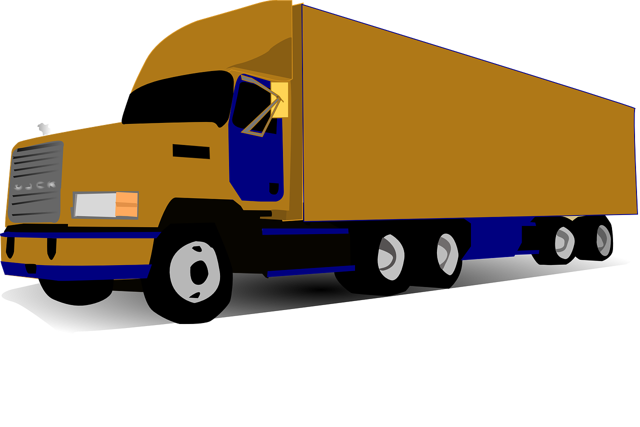 Fedex clipart 18 wheeler Illustration truck wheeled Parcel of