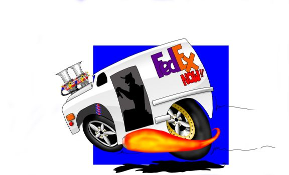 Fed Ex clipart 18 wheeler By 0 2 cartoontruck on