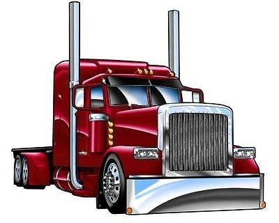 Red clipart semi truck #3