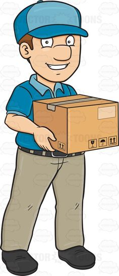 Fed Ex clipart delivery boy Toms Man A Delivery Package