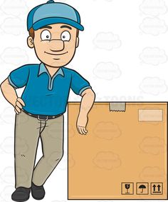 Fed Ex clipart delivery boy Trolley A Beside Delivery Jumbo