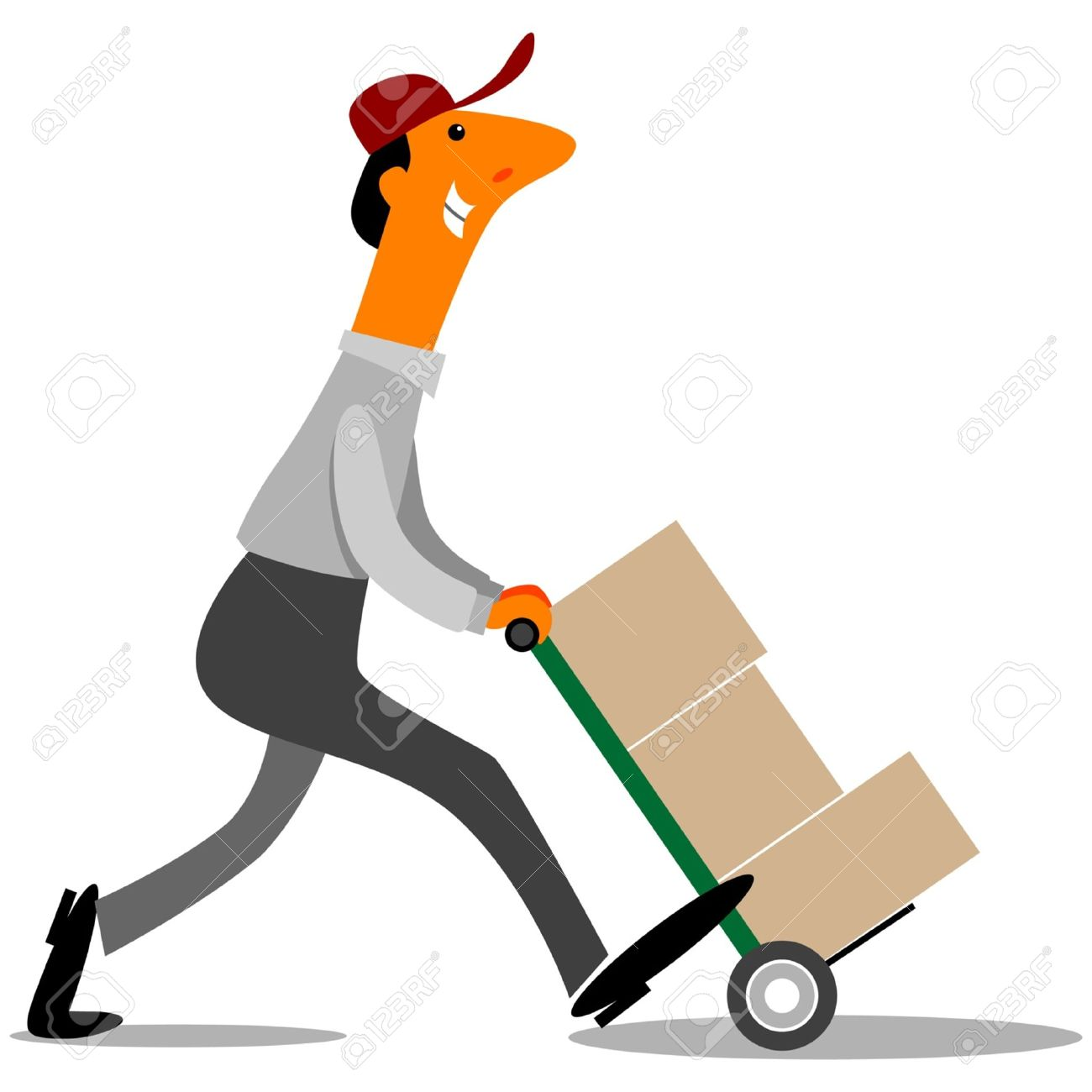 Fed Ex clipart delivery person Delivery Driver Job Spotlight driver
