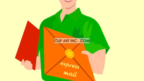 Fed Ex clipart delivery person  Share GIF Find Art