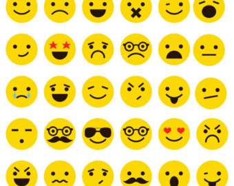 Emotions clipart collage Face Emoticons Emoji clipart Clipart