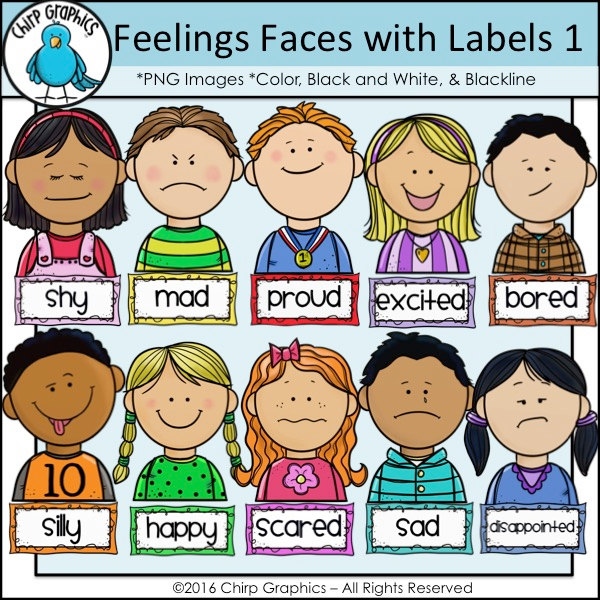 Feelings clipart 1 Etsy Graphics Labels Art