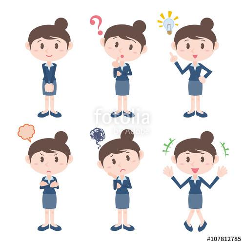 Feelings clipart basic Illustration character feelings various young