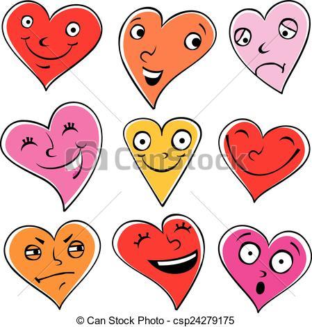 Feelings clipart basic  of Illustration Vectors hearts