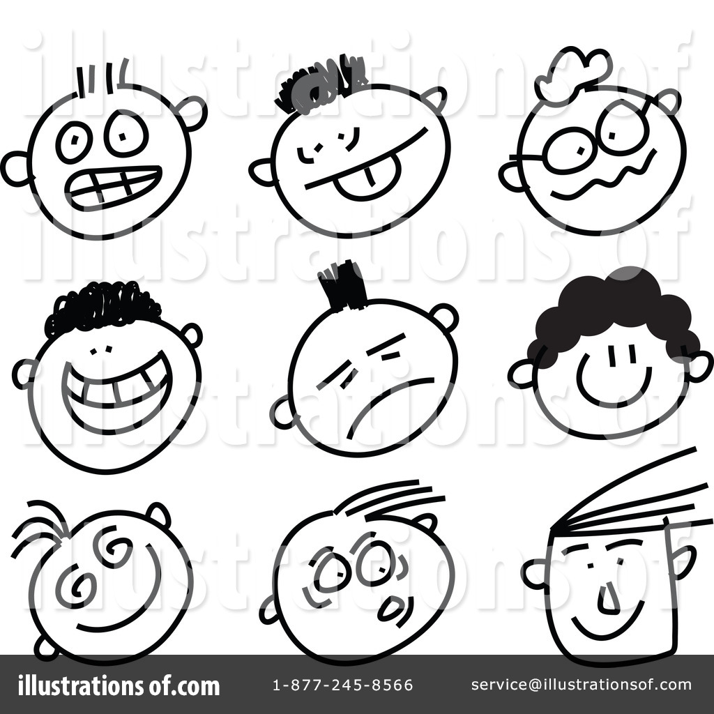 Feelings clipart black and white By Free Faces #48903 Royalty