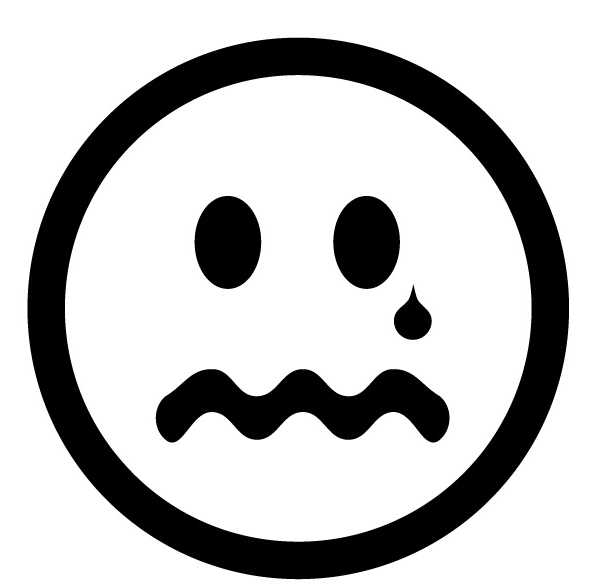 Feelings clipart black and white Art Crying Clip Picture Unhappy