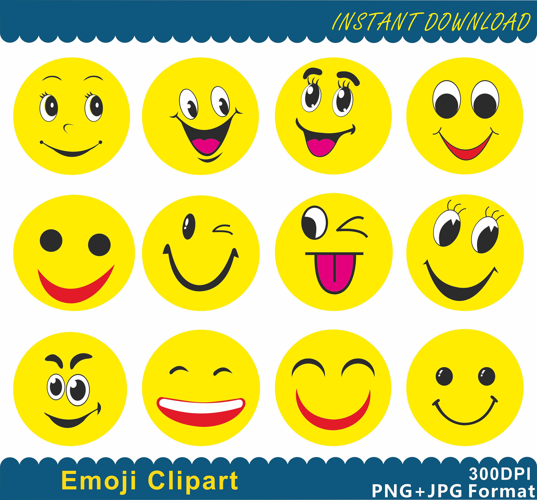 Smileys clipart emoji A digital Clip  Emoji