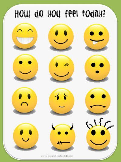 Feelings clipart emoticon Pinterest School feelings Chart Emotion