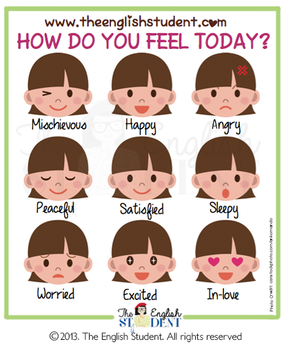 Feeling clipart esl Eenglish www  lessons The