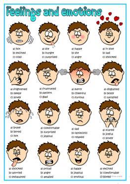 Feeling clipart esl / Adjectives mood tone quiz