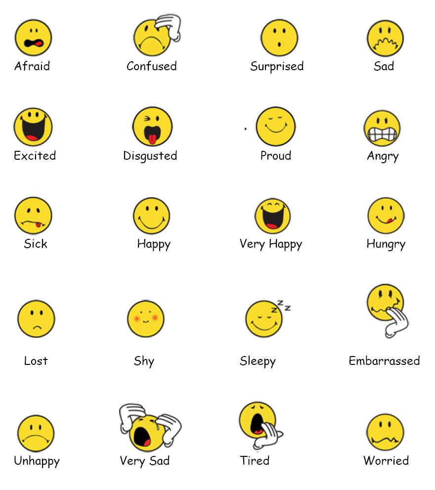 Feelings clipart excited child Who chart get chart to