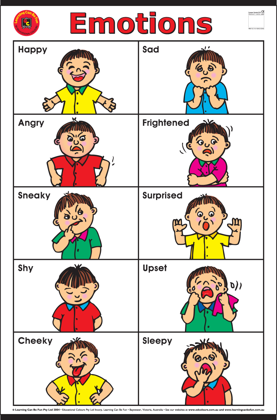 Feelings clipart faces poster EmotionsPoster JPG
