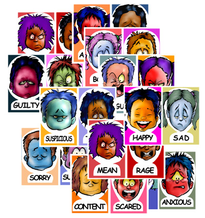 Feelings clipart faces poster Sheets Feeling Chart feelings The