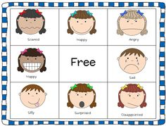 Feelings clipart game Bag ABOUT Game a Bingo