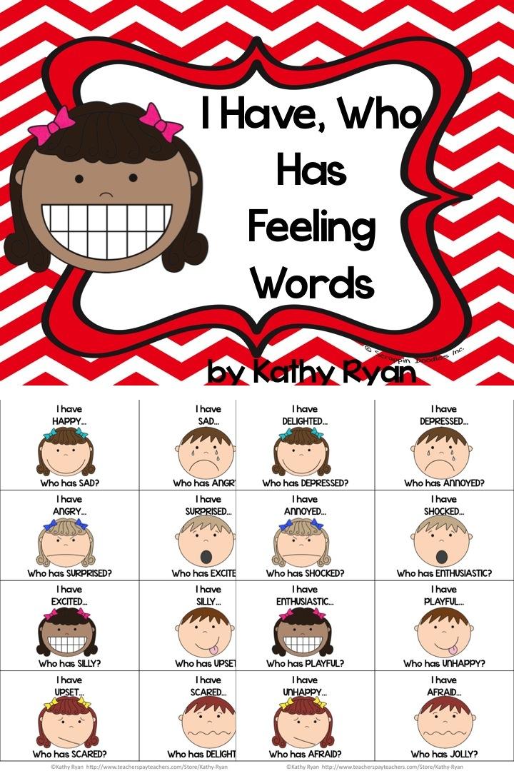 Feelings clipart game Feelings words your Feelings you