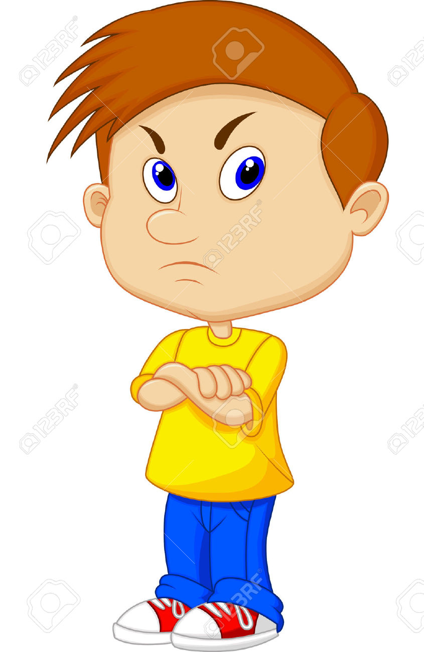 Boy clipart annoyed Girl Angry her teenage clipart