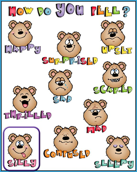 Feelings clipart printable 'Kidoodlez from Life' words Made